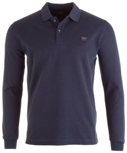 Paul & Shark Organic Cotton Basic Long Sleeve Polo Polo Navy
