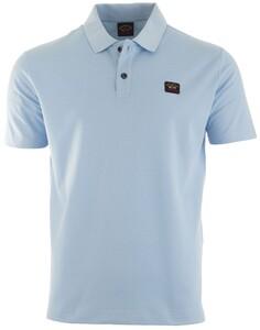 Paul & Shark Organic Cotton Basic Polo Poloshirt Light Blue