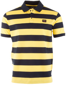 Paul & Shark Organic Cotton Double Mercerized Barstripe Polo Poloshirt Yellow