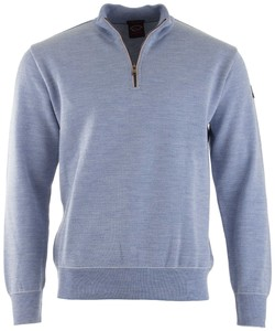 Paul & Shark Piqué Barley Grain Pullover Light Blue