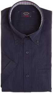Paul & Shark Plain Collar Check Contrast Overhemd Navy