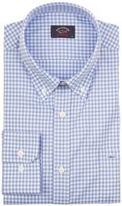 Paul & Shark Plain Weave Check Shirt Light Blue