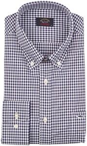 Paul & Shark Plain Weave Check Shirt Navy