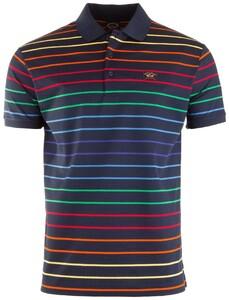 Paul & Shark Rainbow Stripes Polo Poloshirt Multicolor