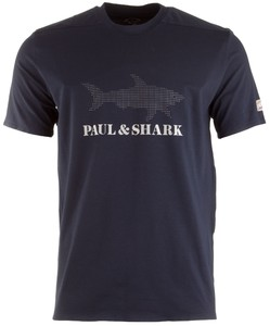 Paul & Shark Reflective Shark T-Shirt T-Shirt Navy
