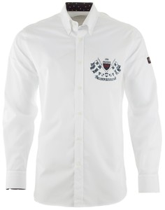 Paul & Shark Royal Yachting Emblem Shirt White