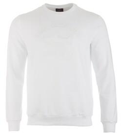 Paul & Shark Shark Basic Logo Sweater Trui Wit