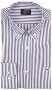 Paul & Shark Shark Basic Oxford Stripe Shirt Navy