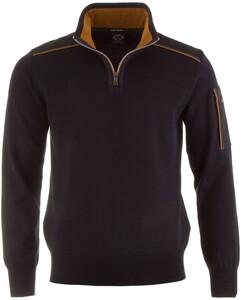 Paul & Shark Shoulder Contrast Zipper Pullover Navy