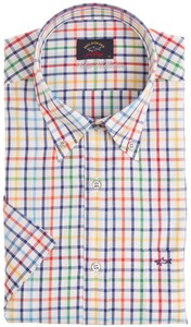 Paul & Shark Silver Collection Multicolor Check Overhemd Multicolor
