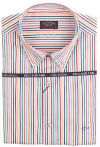 Paul & Shark Silver Collection Multicolor Stripe Shirt Multicolor
