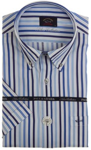 Paul & Shark Silver Collection Stripes Overhemd Wit