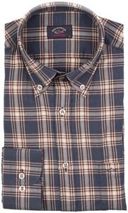 Paul & Shark Soft Fabric Luxury Check Overhemd Blauw