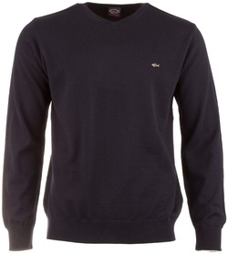 Paul & Shark Solid V-Neck Pullover Navy