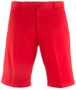 Paul & Shark Stretch Flat-Front Bermuda Bermuda Rood