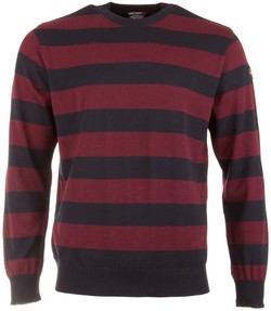 Paul & Shark Striped Roundneck Pullover Navy-Red