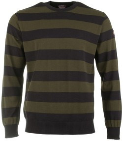 Paul & Shark Striped Roundneck Trui Navy-Groen