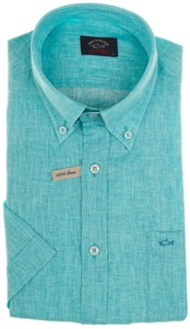 Paul & Shark Summer Linen Overhemd Aqua
