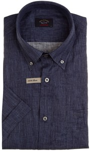 Paul & Shark Summer Linen Overhemd Navy
