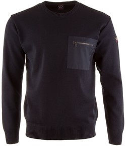 Paul & Shark The Original Yachting Breast Pocket Roundneck Pullover Navy