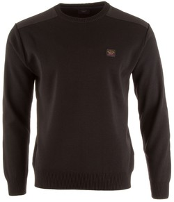Paul & Shark The Original Yachting Roundneck Pullover Black