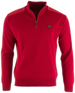 Paul & Shark The Original Yachting Zipper Trui Rood
