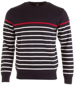 Paul & Shark Three-In-One Roundneck Stripe Pullover Pullover Navy