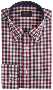 Paul & Shark Two-Tone Check Overhemd Rood