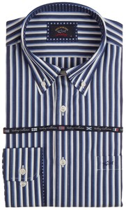 Paul & Shark Two-Tone Stripe Overhemd Blauw