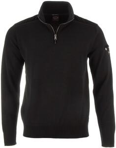 Paul & Shark Velour Contrast Pullover Black
