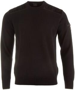 Paul & Shark Velour Shoulder Contrast Pullover Black