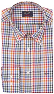 Paul & Shark Warm Color Check Shirt Multicolor