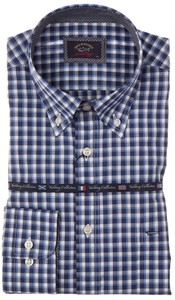Paul & Shark Yachting Collection Blue-Blue Check Overhemd Blauw