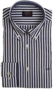 Paul & Shark Yachting Stripe Overhemd Navy