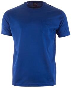 Paul & Shark Zacht Gemerceriseerd T-Shirt Kobalt