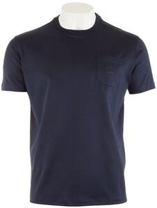 Paul & Shark Zacht Gemerceriseerd T-Shirt Navy