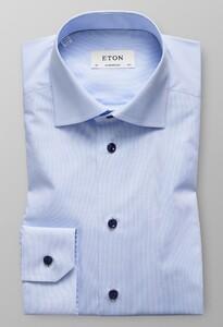 Eton Faux Uni Shirt Licht Blauw