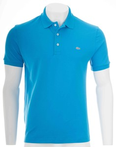 Lacoste Stretch Slim-Fit Mini Piqué Loire Blue