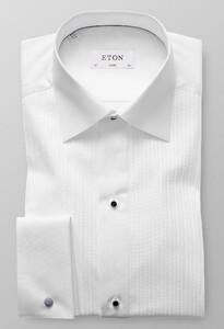 Eton Plissé Black Tie Wit