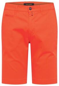 Pierre Cardin Chino Bermuda Comfort Stretch Bermuda Bright Orange