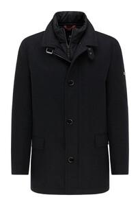 Pierre Cardin Coat Wool Material Mix Jas Antraciet Melange