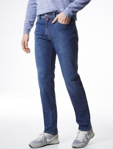 Pierre Cardin Deauville Tapered Airtouch Jeans Dark Blue Used Washed