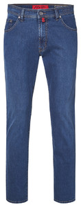 Pierre Cardin Deauville Tapered Airtouch Jeans Used Washed Blauw Melange