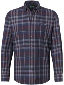Pierre Cardin Denim Academy Check Overhemd Zwart-Grijs