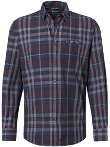 Pierre Cardin Denim Academy Check Shirt Black-Grey