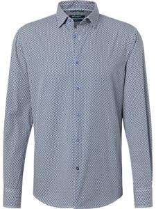 Pierre Cardin Denim Academy Fantasy Contrast Overhemd Donker Blauw-Wit
