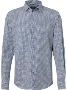 Pierre Cardin Denim Academy Fantasy Contrast Shirt Dark Blue-White