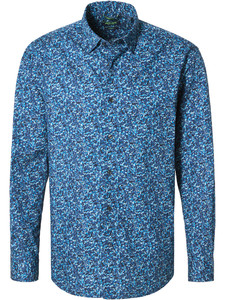 Pierre Cardin Denim Academy Fantasy Shirt Mid Blue