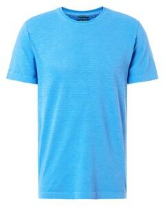 Pierre Cardin Denim Academy Fine Striped T-Shirt Blauw