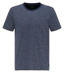 Pierre Cardin Denim Academy Fine Striped T-Shirt Navy Blue Melange